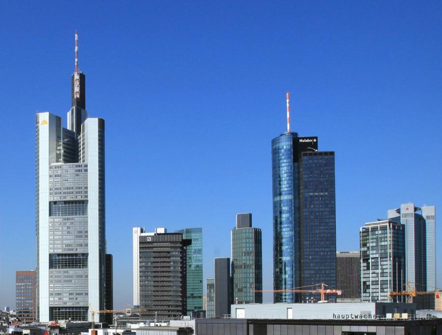 Frankfurt nad Menem, siedziba niemieckiej giełdy.
