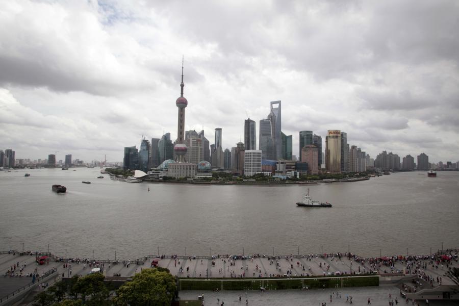 Szanghaj - widok na biznesową dzielnicę Pudong.