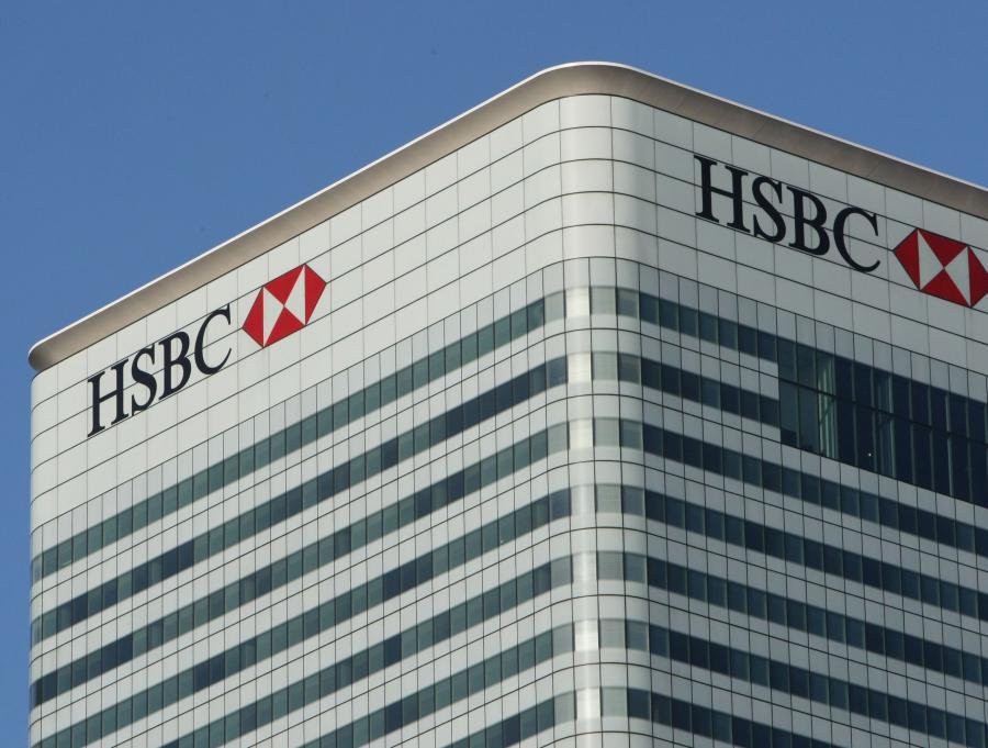 Siedziba HSBC na Canary Wharf w Londynie.