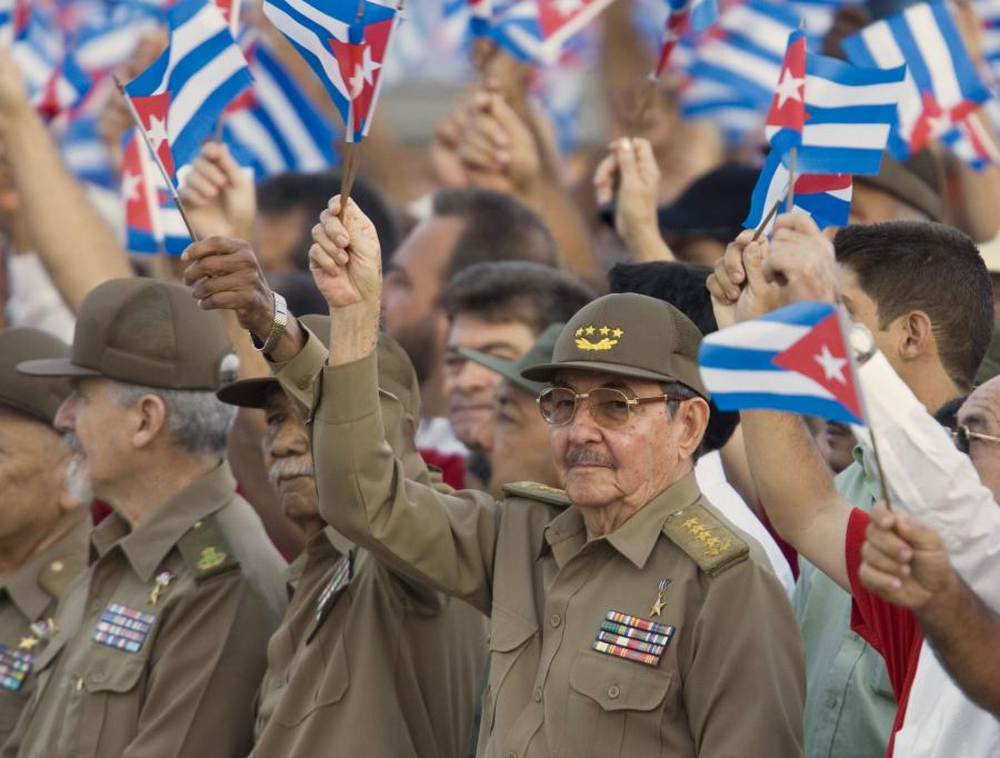 Na zdj. Raul Casto, prezydent Kuby.