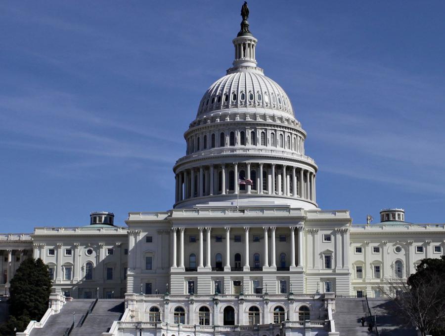 Budynek Kongresu na Capitol Hill w Waszyngtonie.