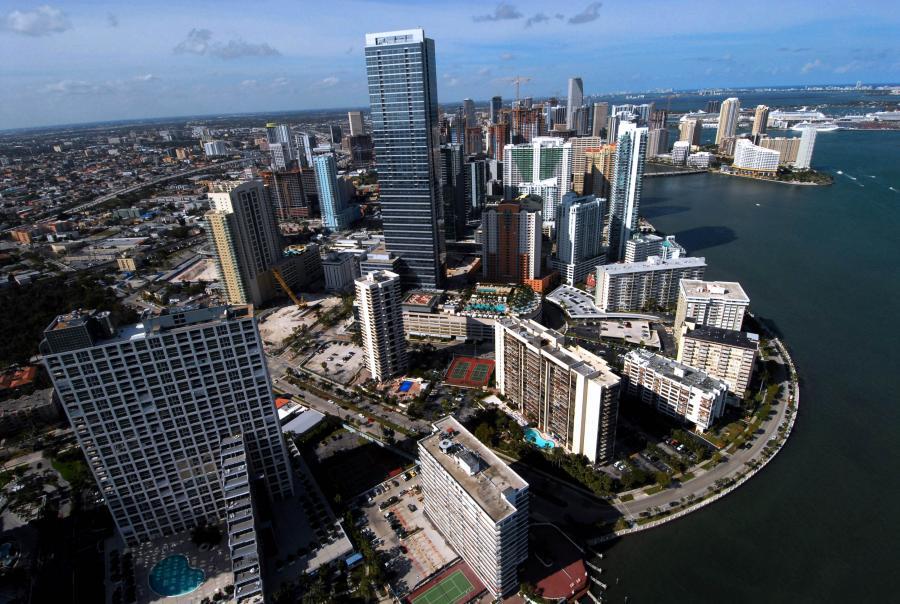 Centrum Miami, największego miasta na Florydzie.