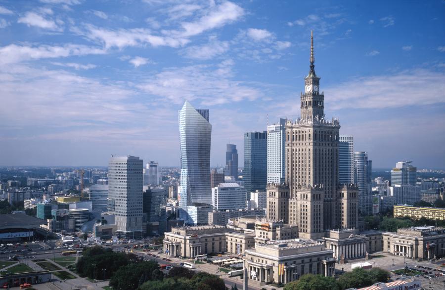 Złota44 - widok z hotelu Forum w dzień - fot. materiały prasowe Orco Property Group