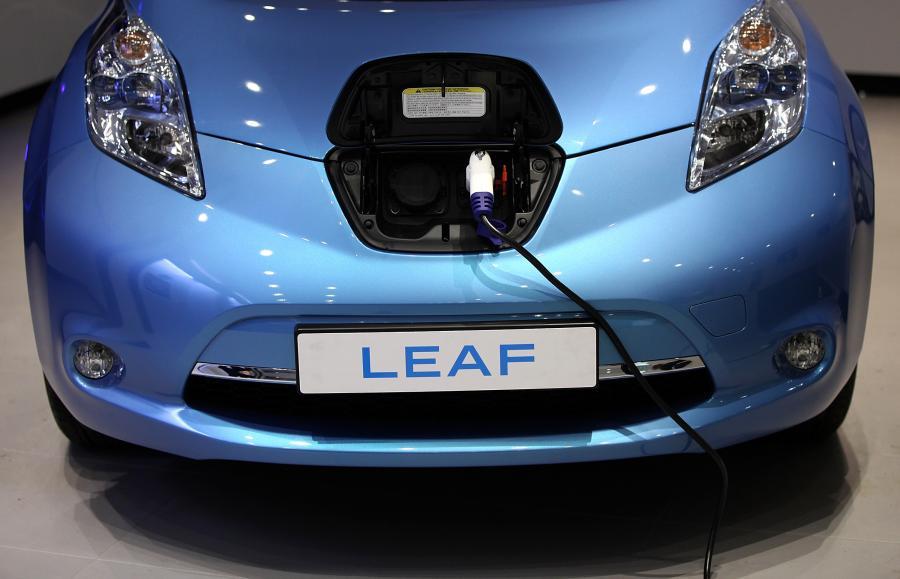 Nissan Leaf – Stoisko Nissana na pokazach O2 Arena w Londynie w Wielkiej Brytanii (4). Fot. Simon Dawson/Bloomberg