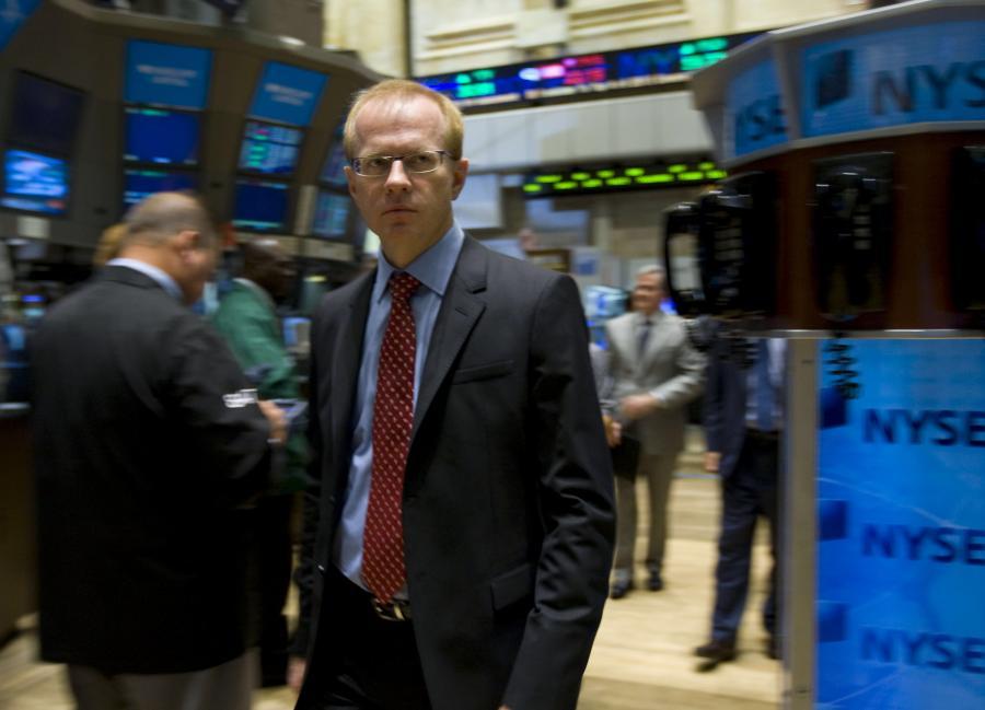 Prezes GPW Ludwik Sobolewski na Nowojorskiej Giełdzie Papierów Wartościowych NYSE.