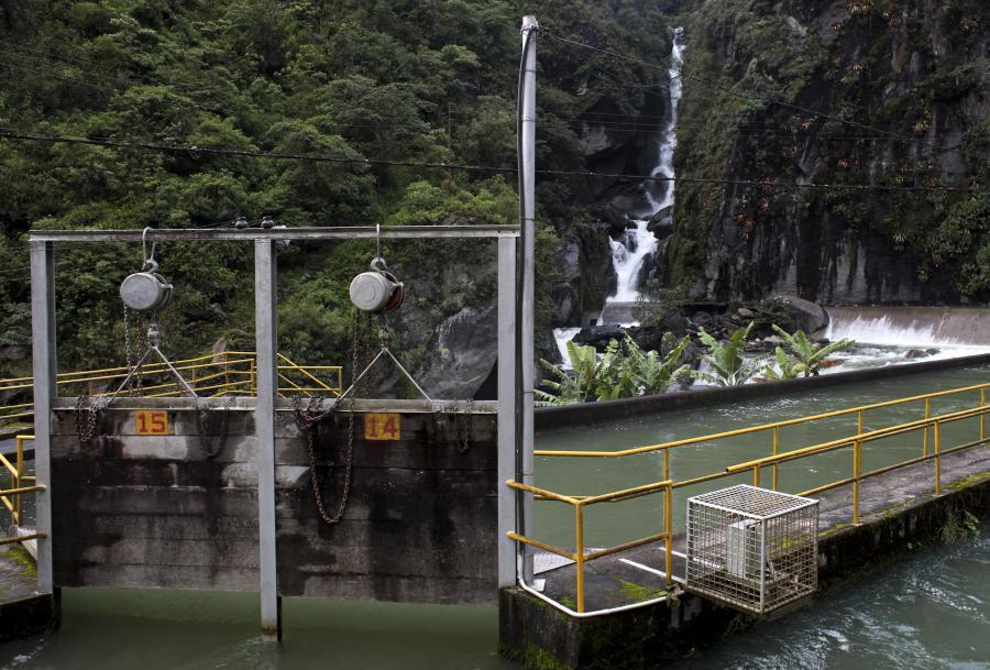 Elektrownia wodna bez tamy firmy Cia Boliviana de Energia Eleca SA (COBEE) w dolinie Zongo niedaleko La Paz w Boliwii (1). Fot: Lisa Wiltse/Bloomberg