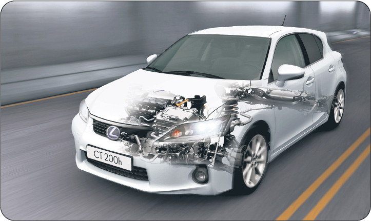 Lexus CT200h to jeszcze hybryda. Osiągi silnika elektrycznego nie są najlepsze: 45 km/h przez zaledwie 2 km Fot. Lexus