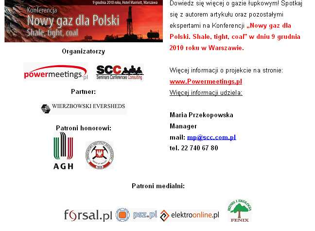 """""""Nowy gaz dla Polski. Shale, tight, coal"""""""