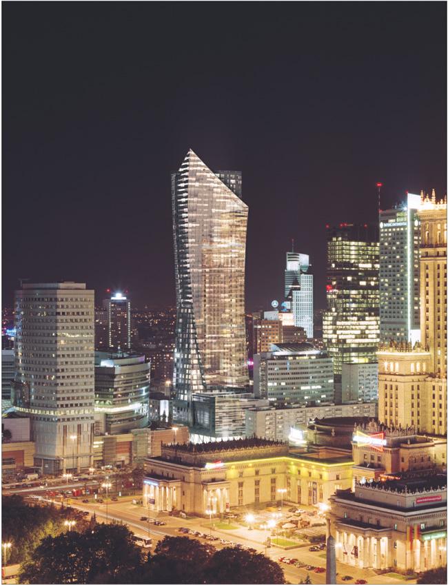 Wieża przy Złotej może się stać jedną z najbardziej charakterystycznych budowli w mieście Fot. Materiały prasowe