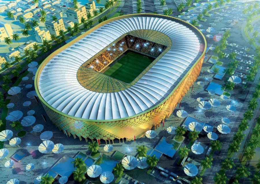 Mistrzostwa świata w Katarze 2022. Projekt stadionu (fot. PAP/EPA)