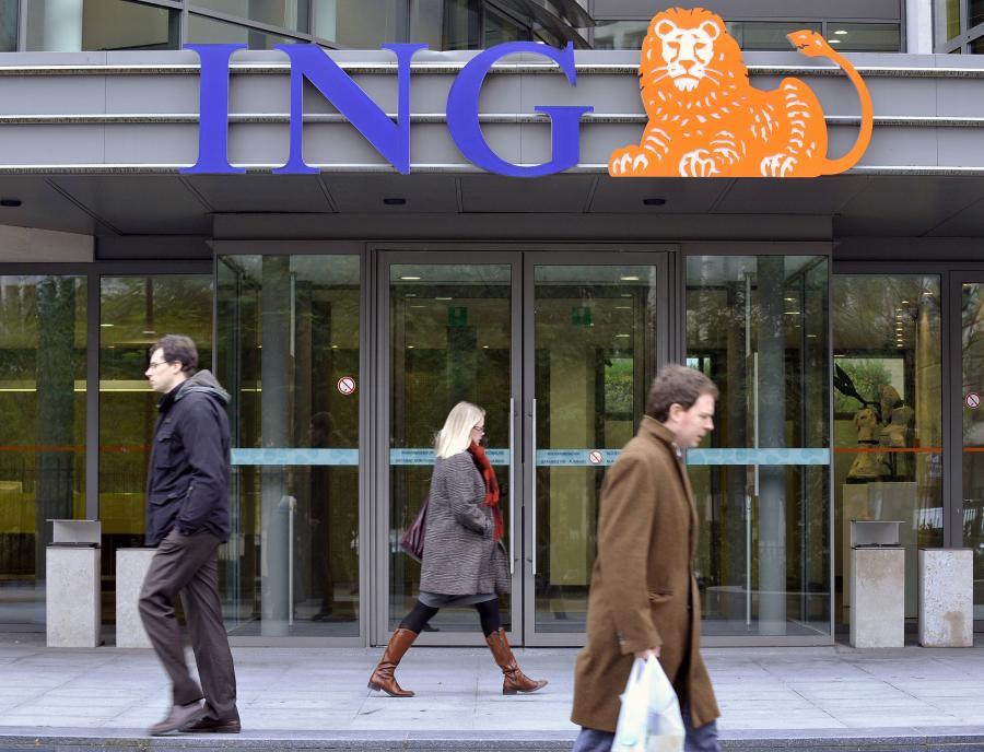 Same dobre wieści dla Polski: WIG będzie rósł, a złoty umacniał się. Na zdj. oddział Banku ING w Brukseli.