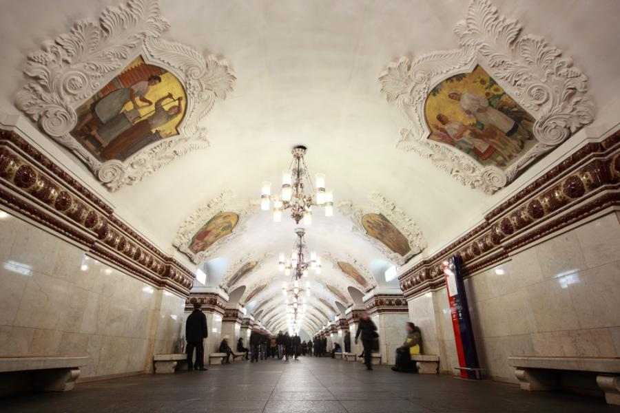 Moskiewskie metro: stacja Kievskaya Fot. Shutterstock