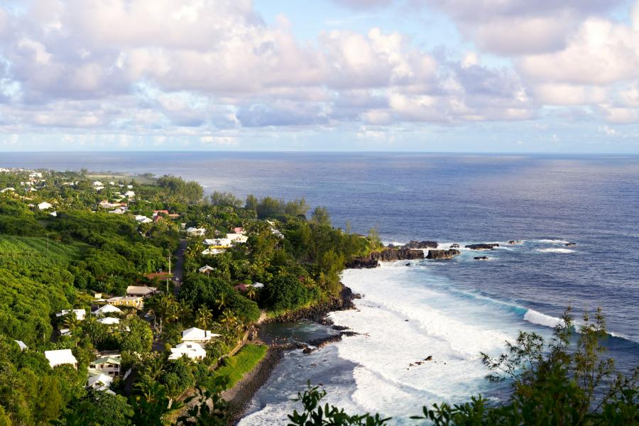Panoama wyspy Reunion