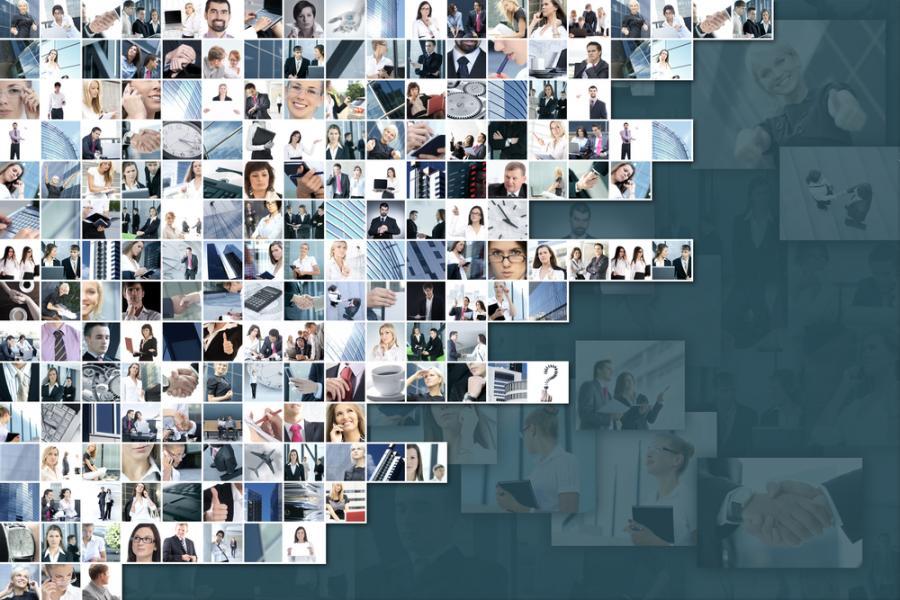 Biznes, kolaż zdjęc. Fot. Shutterstock