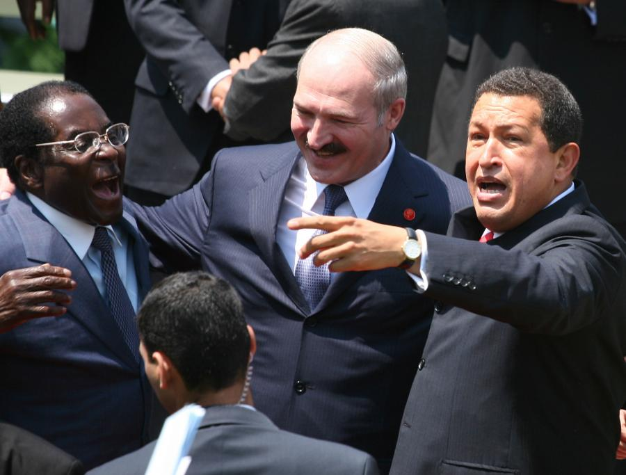 Alaksandr Łukaszenka, Hugo Chavez i Robert Mugabe