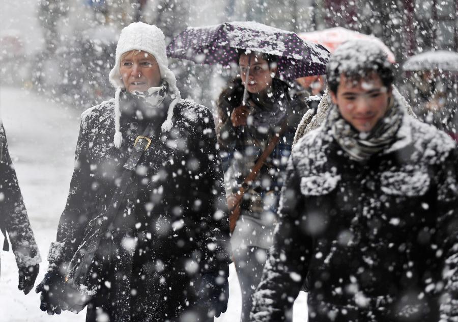 Śnieżyce w Londynie Fot. EPA/ANDY RAIN Dostawca: PAP/EPA.