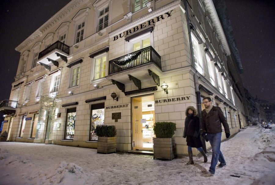 Ekskluzywny butik Burberry w centrum Warszawy
