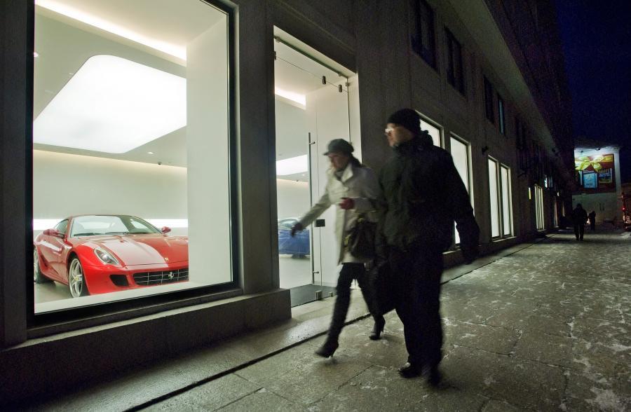 Warszawski salon luksusowych samochodów marki Ferrari