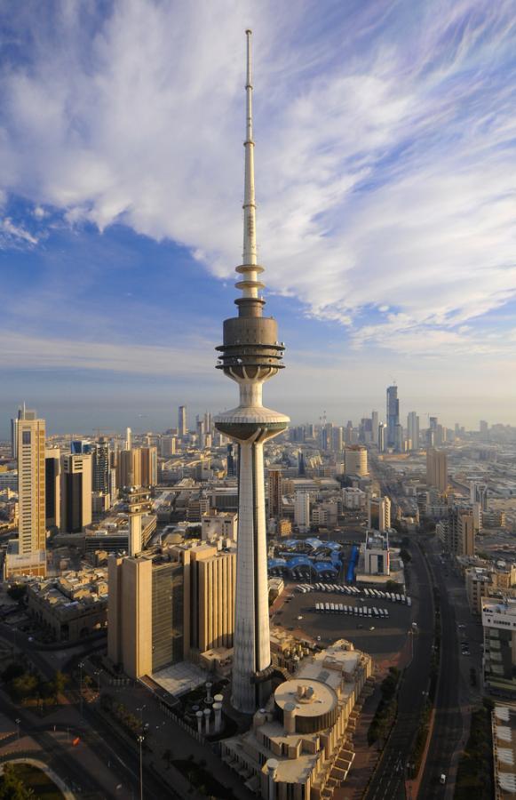 Widok na miasto Kuwejt, stolicę Kuwejtu (1). fot. Shutterstock.