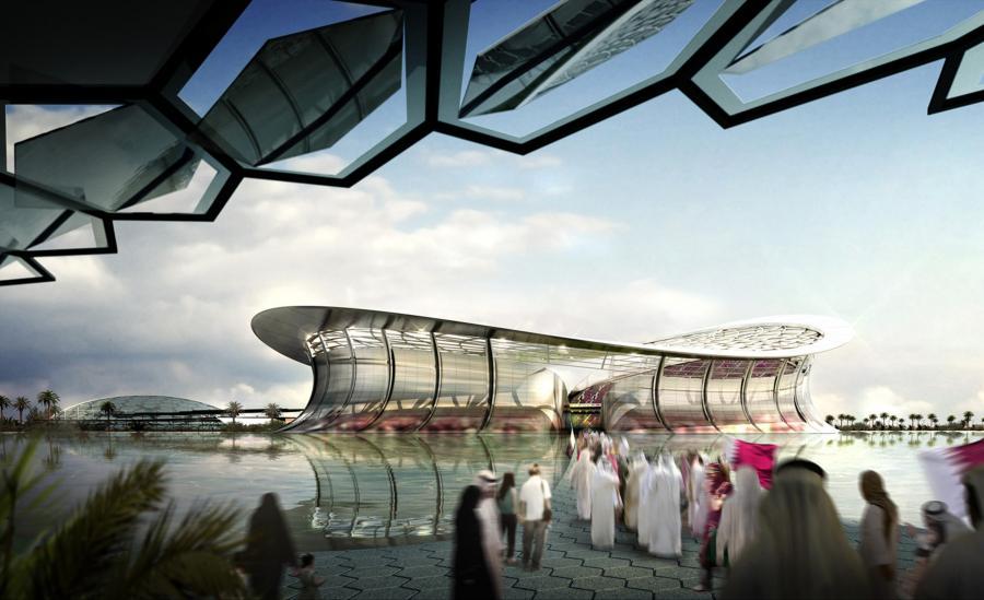 Wizualizacja stadionu na mundial 2022 w Katarze