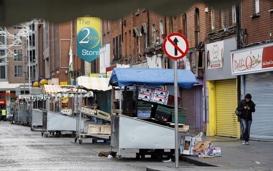 Stragany na Moore Street w Dublinie