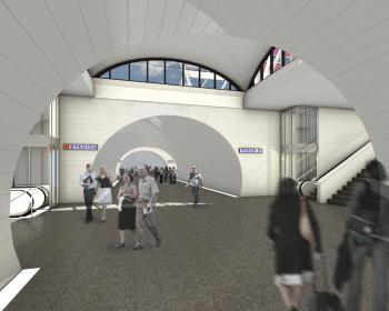 Modernizacja dworca Warszawa Stadion - wizualizacja tunelu Fot. Materiał prasowe PKP