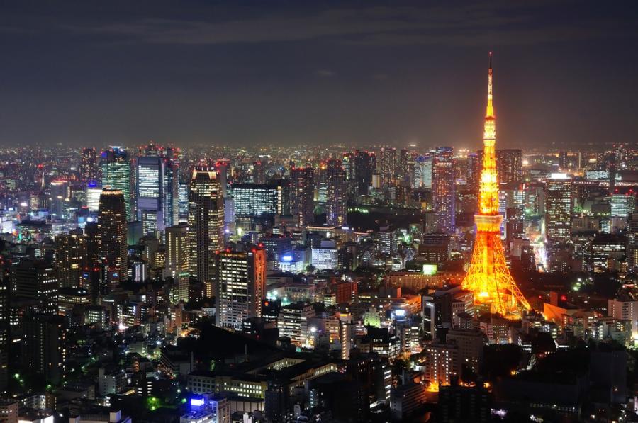 Tokio, stolica Japonii. Aglomerację Tokijską zamieszkuje 34 mln osób. Fot. Shutterstock.
