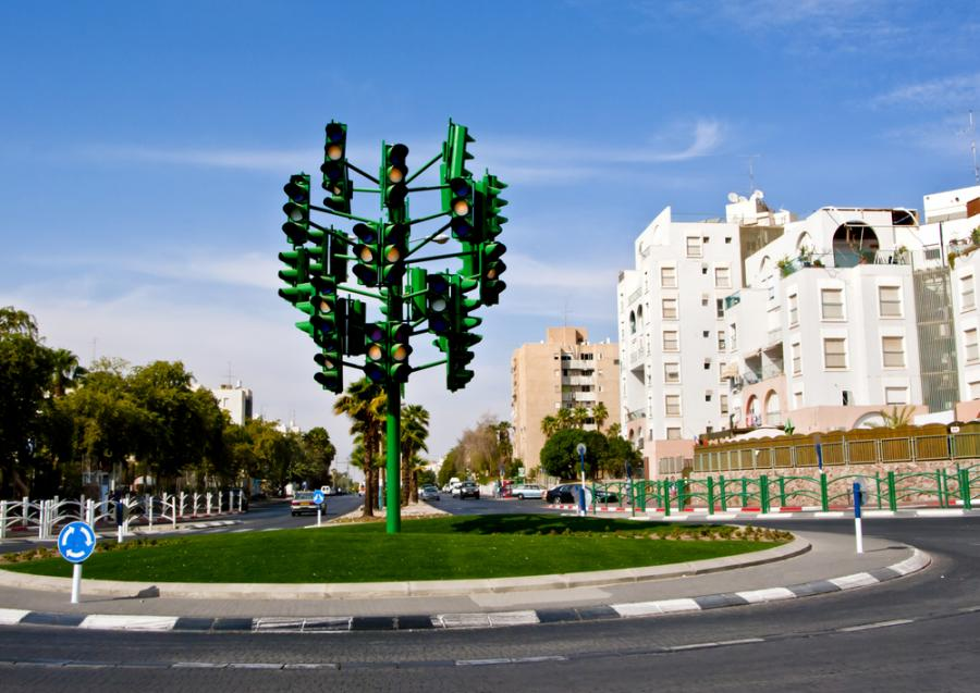 Skrzyżowanie w Eilat w Izraelu, mat. shutterstock