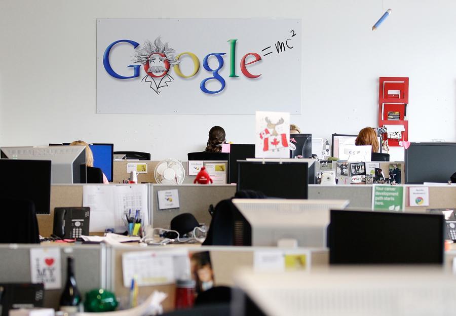 Wnętrze głównej siedziby Google w Londynie w Wielkiej Brytanii.