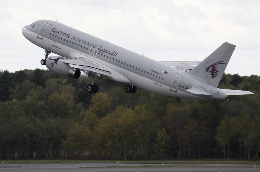 Airbus A320 w barwach liniii Qatar Airways