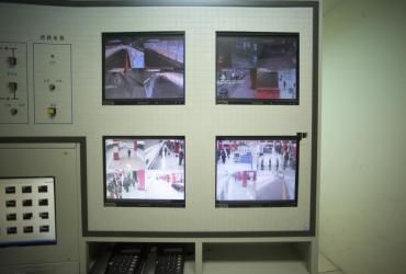 Monitoring stacji Wangjing West w pekińskim metrze