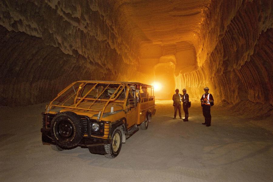 Górnicy w kopalni miedzi w należącej do KGHM Polska Miedź kopalini Polkowice-Sieroszowice w Polkowicach na Dolnym Śląsku.