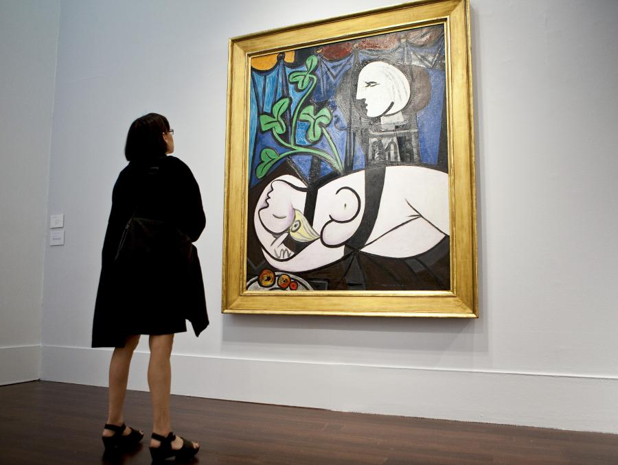 "Obraz autorstwa Pabla Picassa ""Nude, Green Leaves and Bust"""