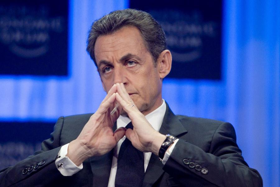 Prezydent Francji Nicolas Sarkozy podczas Forum w Davos. 27. stycznia 2011 r.