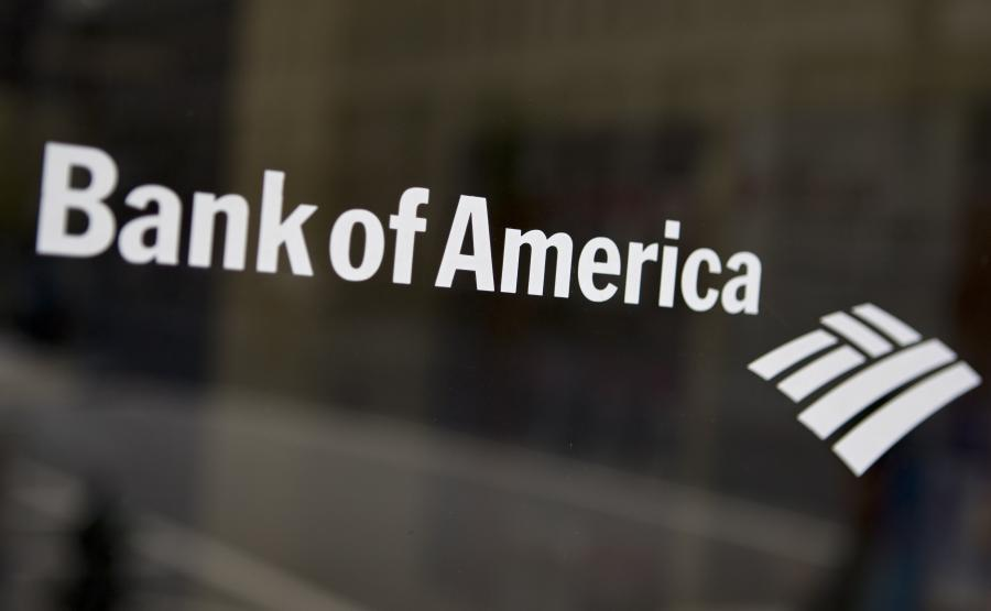Logo Bank of America.