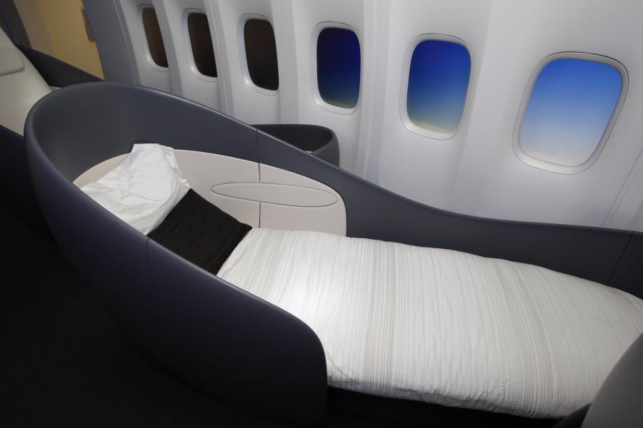 Boeing 747- 8 Intercontinental – wnętrze (1). fot. Bloomberg