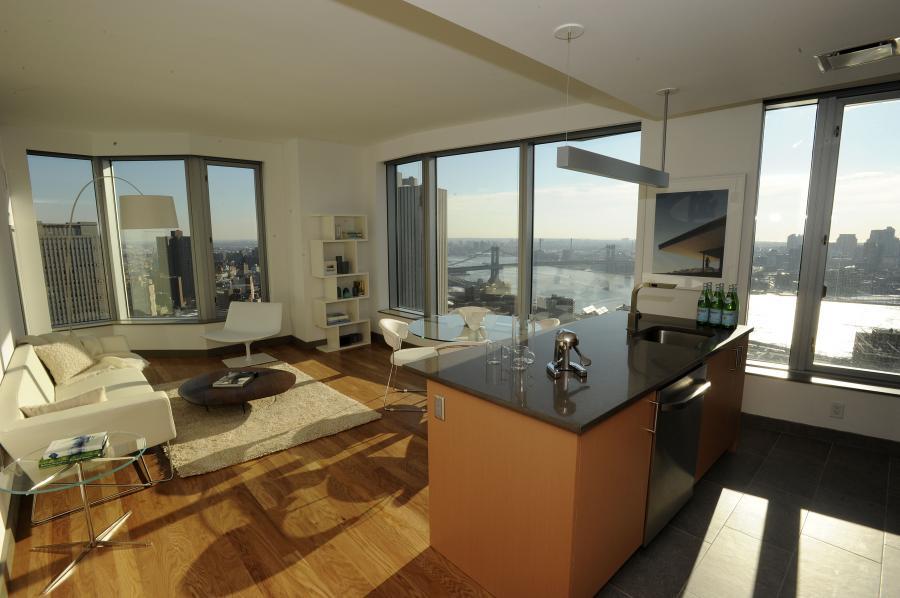 Apartament projektu Franka Gehryego na Spruce Street 8 w Nowym Jorku. Najwyższy budynek mieszkaniowy w Nowym Jorku ma 76 pięter (4)