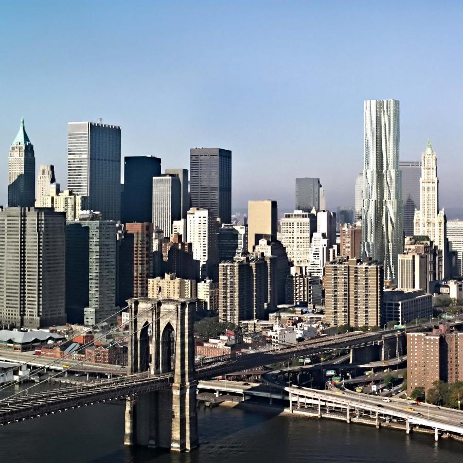 Beekman Tower: najwyższy apartamentowiec w Nowym Jorku projektu Franka Gehryego