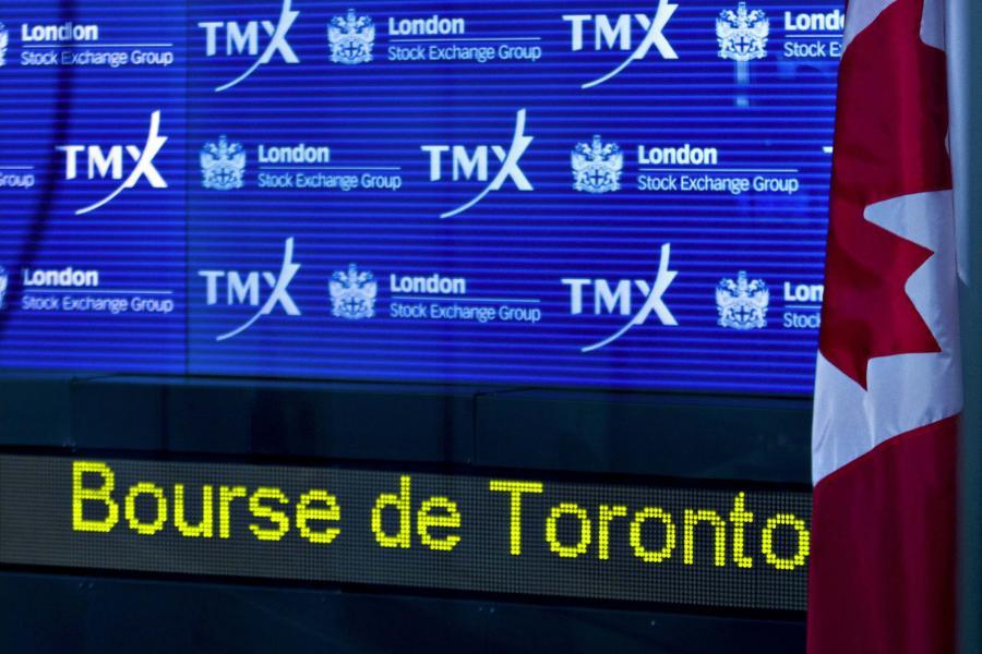 Loga giełd LSE w Londynie oraz TMX w Toronto.