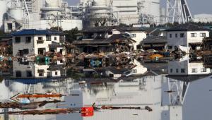 Fukushima w Japonii, okolice elektrowni atomowej po trzęsieniu ziemi