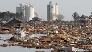 Okolice elektrowni atomowej Fukushima w Japonii. Trzęsienie ziemi, które miało miejsce 11 marca 2011 w Japonii było jednym z najsilniejszych w historii