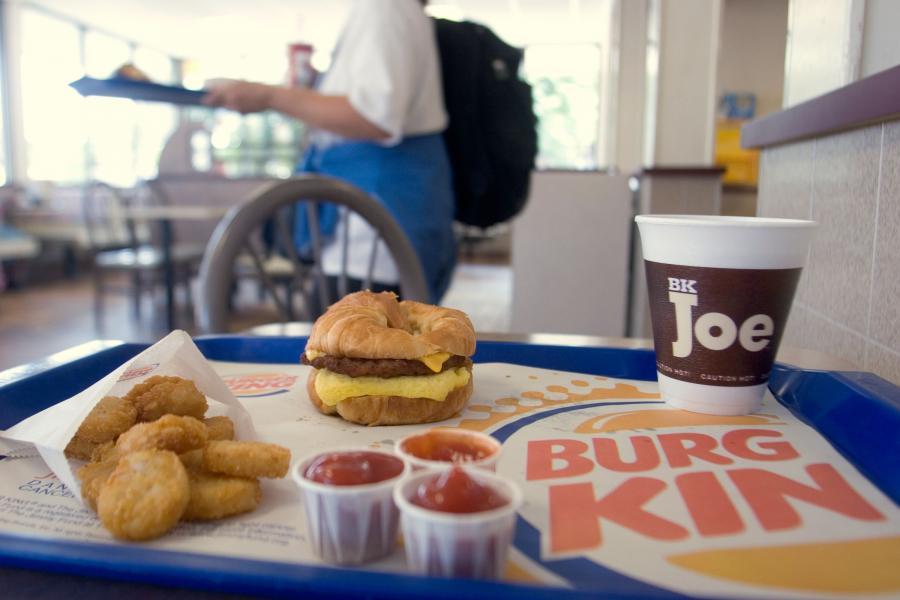 Zestaw śniadaniowy Burger King
