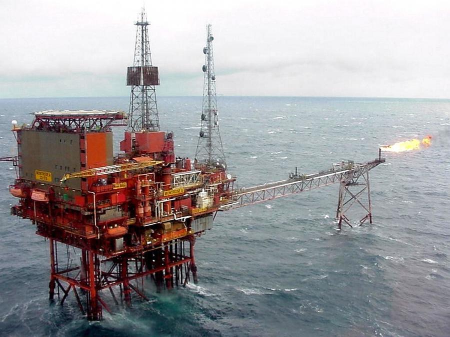 Platforma wydobywcza na Morzu Północnym