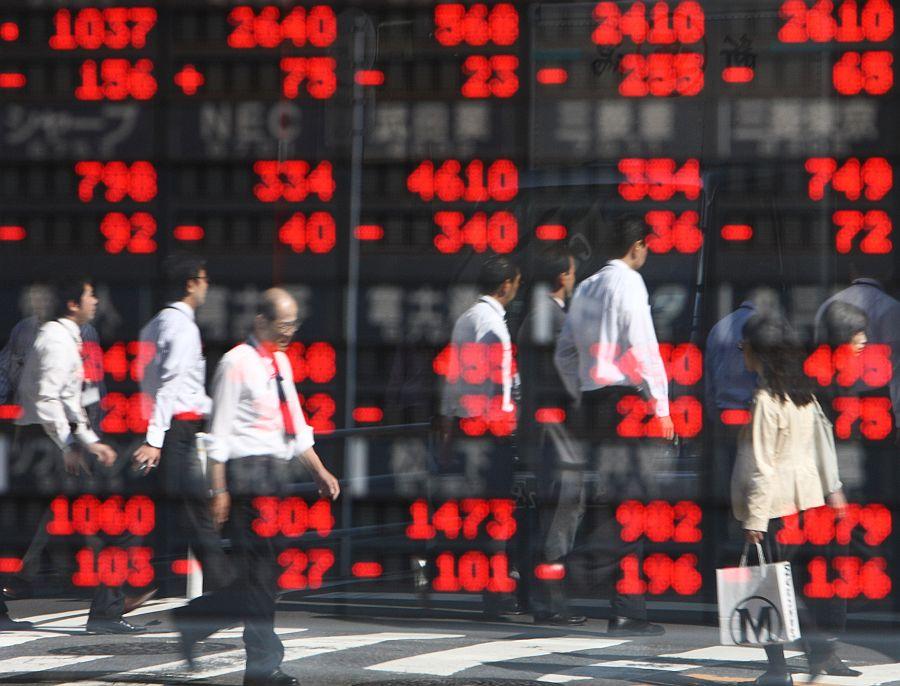 spadki w Tokio