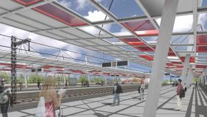 Tak ma wyglądać Dworzec Warszawa Stadion po modernizacji - perony. Fot. materiały prasowe PKP