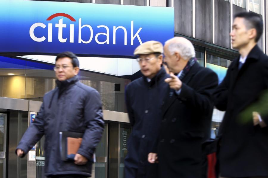 Przed siedzibą Citigroup w Nowym Jorku