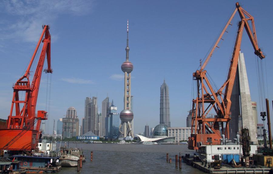 Pudong - biznesowa dzielnica Szanghaju. Fot. Bloomberg