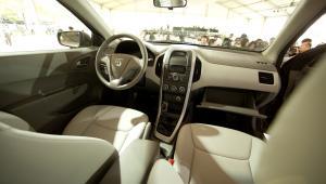 Wnętrze Baojun 630, nowy samochód grupy GM został zaprezentowany na targach samochodwych w Sznaghaju. fot. Nelson /Bloomberg