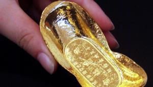 Sztabka złota wytworzona w Chinach