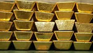 Sztabki złota. Fot. Bloomberg
